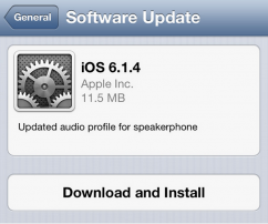 iOS 6.1.4 for iPhone5 推出